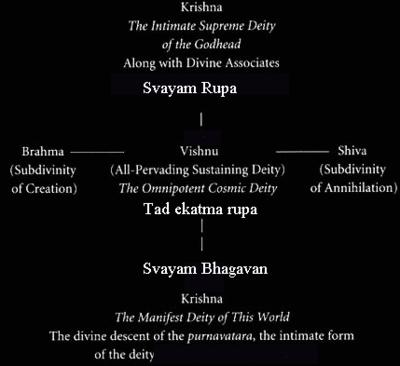 Krishna as Svayam Bhagavan in relation to Vishnu