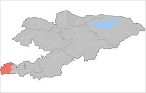 Leilek District - Image: Kyrgyzstan Leilek Raion