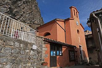 Auvare - The church at Auvare