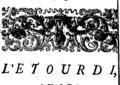 L'étourdi, ou les contre-tems, comedie Fleuron T064111-10.png
