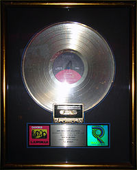 LA Woman gold record, Hard Rock Cafe Hollywood.JPG