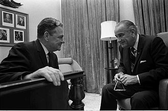Hale Boggs - President Lyndon B. Johnson with House Majority Whip Boggs