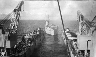 USS Oceanside (LSM-175) - Image: LSM 175 and LSD 3