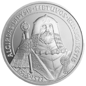 Algirdas - Litas commemorative coin with image of Algirdas
