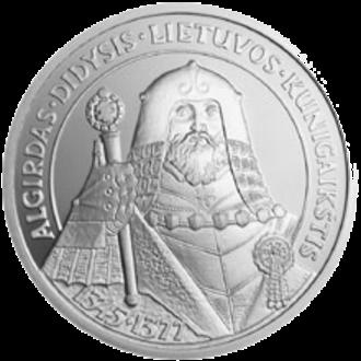 Algirdas - Litas commemorative coin with image of Algirdas