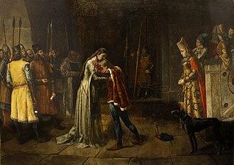 Eleanor de Guzmán - Guzmán bidding farewell to her son Fadrique Alfonso before her execution