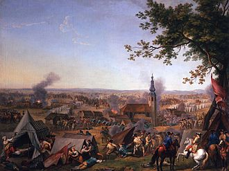 Battle of Hochkirch - A depiction of The fall of the Prussian camp at Hochkirch