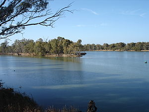 Wentworth, New South Wales - Image: La confluence du Murray et du Darling à Wentworth