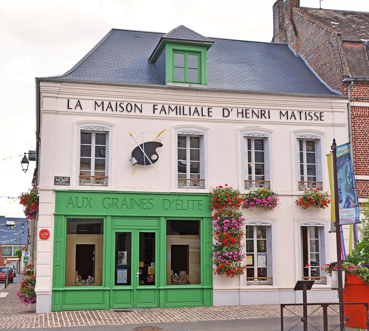 Facades De Maisons En Couleurs file:la façade de la maison familiale d'henri matisse
