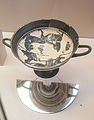 Laconian kylix depicting the return of Hephaistos (565-560 BC).jpg