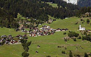 Ladir Former municipality of Switzerland in Graubünden