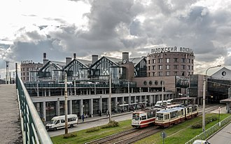 Ladozhsky railway station - Station entrance