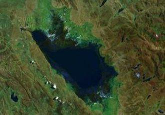 Lake Junin - Lake Junin in a satellite image.