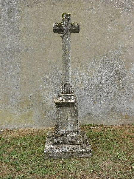 Laix (Meurthe-et-M.) croix funéraire à l'ancien cimetière