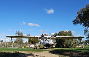 Lake Boga, Victoria - PBY Catalina flying boat at Lake Boga