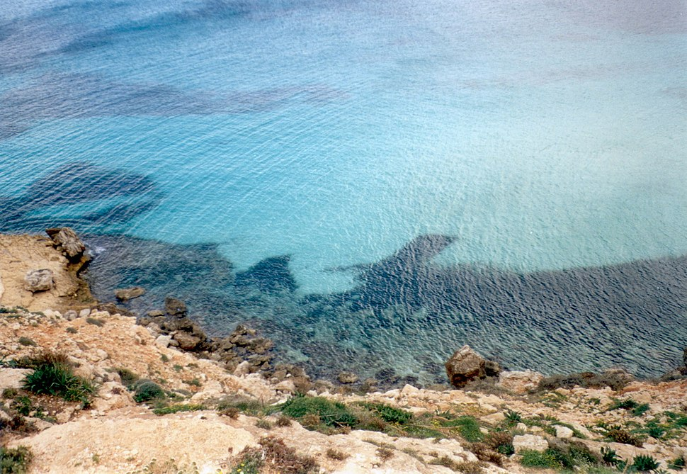 Lampedusa cost and sea
