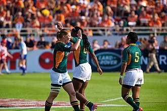 South Africa women's national rugby sevens team - Image: Land Rover at the 2012 Dubai Rugby Sevens (8242718553)