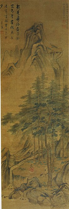 Landscape of quick water from high mountain by Zhao Zuo.jpg