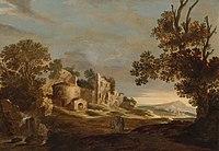 Landschap met de Emmaüsgangers Rijksmuseum SK-A-2218.jpeg