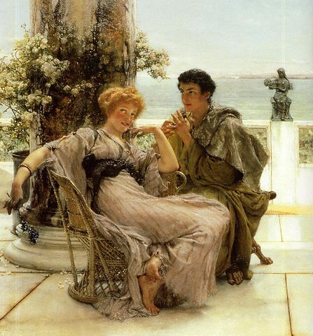 Source: http://upload.wikimedia.org/wikipedia/commons/thumb/b/bb/Lawrence_Alma-Tadema_Courtship_-_The_Proposal.jpg/447px-Lawrence_Alma-Tadema_Courtship_-_The_Proposal.jpg
