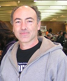 A man in grey sweatshirt