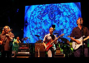 Clapton performing with The Allman Brothers Ba...