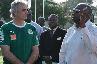 Vahid Halilhodžić - Halilhodžić with President of Ivory Coast Laurent Gbagbo in May 2008.