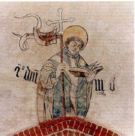 Fresco van Sint-Lebuïnus