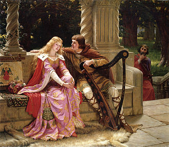 Tristan and Iseult - Tristan, Iseult and Mark in The End of the Song by Edmund Leighton