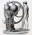 """Les merveilles de l'industrie, 1873 """"Appareil a deux corps de pomes et a deux saturateurs, pour la fabrication del'eau de Seltz"""". (4859384323).jpg"""