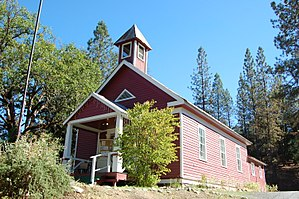 National Register of Historic Places listings in Trinity County, California - Image: Lewiston Schoolhouse Library