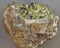 Lherzolite mantle xenolith in basalt (Afton Basalt Flow Upper Pleistocene, 15-20 ka; Kilbourne Hole Crater, Aden-Afton Basalt Field, Potrillo Volcanic Field, southwestern New Mexico, USA) (15013320336).jpg