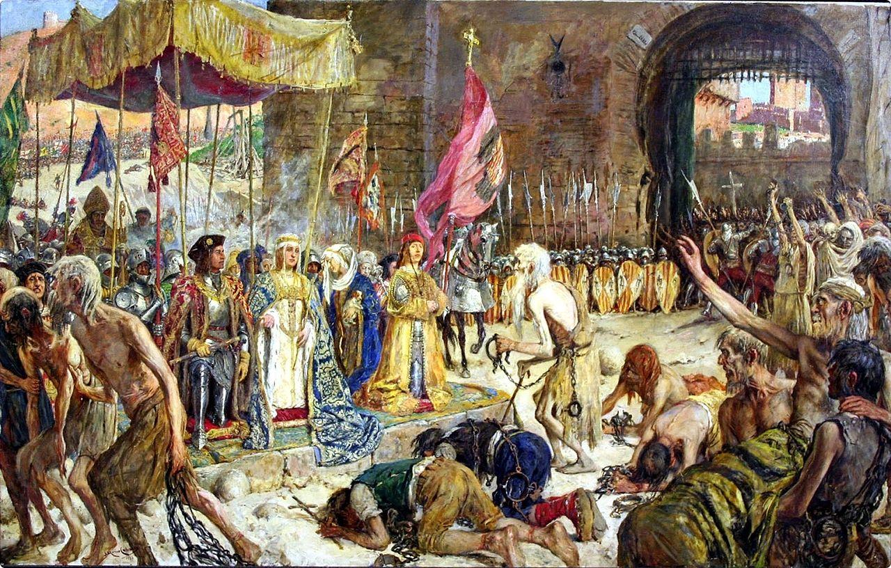 Освобождение пленных Малаги католическими монархами (Малагский музей) .jpg