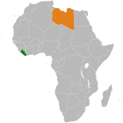 Liberialibya relations wikipedia map indicating locations of liberia and libya gumiabroncs Gallery
