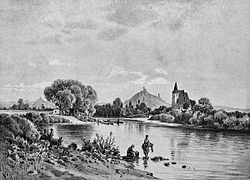 View of Křesín by Karel Liebscher