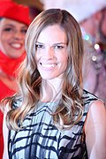 Photo o Hilary Swank attendin the Life Ball in 2013.