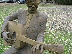 Lightnin' Hopkins szobra Texasban