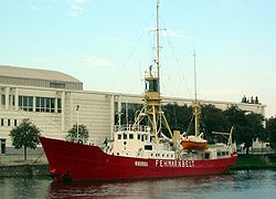Lightship Fehmarnbelt in front of the Concert and Congress Center.