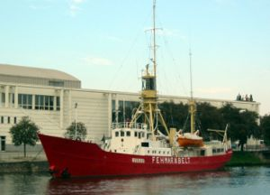 Lightvessel - Fehmarnbelt Lightship, now a museum ship in Lübeck