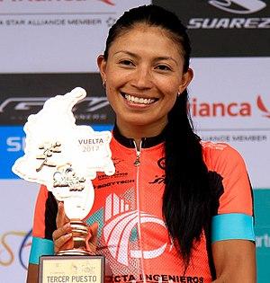 Liliana Moreno 3ra en la Vuelta a Colombia Femenina 2017.jpg