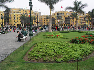 Lima Province - Plaza Mayor in Lima, Peru.