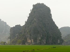 Hoa Lư - Typical limestone mountain in the area of Hoa Lư