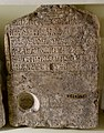 Limestone stela of a high priest of god Ptah. It bears the cartouches of Cleopatra and Caesarion. From Egypt. Ptolemaic Period. The Petrie Museum of Egyptian Archaeology, London.jpg