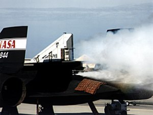 Linear Aerospike SR-71 Experiment - Linear Aerospike SR-71 Experiment (LASRE) ground cold flow test.