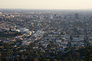 East Hollywood, Los Angeles - East Hollywood as viewed from the Griffith Observatory