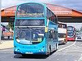 Livery variety - Arriva north London LJ51 DFU DAF - Wrights, 4019, Olympic games vehicle (7713479178).jpg