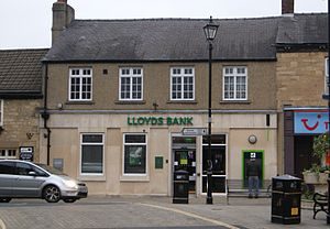 Lloyds Bank - A rebranded Lloyds Bank branch in Wetherby, West Yorkshire (October 2013)