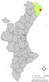 Localització de Benicarló respecte del País Valencià.png
