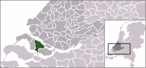 Middelharnis - Image: Locatie Middelharnis