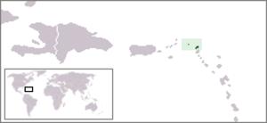 Anguillian cuisine - Location of Anguilla